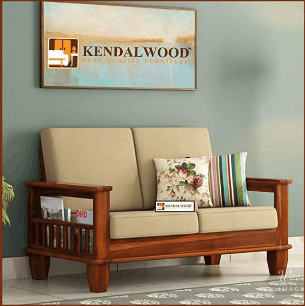 Hariom Handicraft KendalWood Furniture 2 Seater sofa