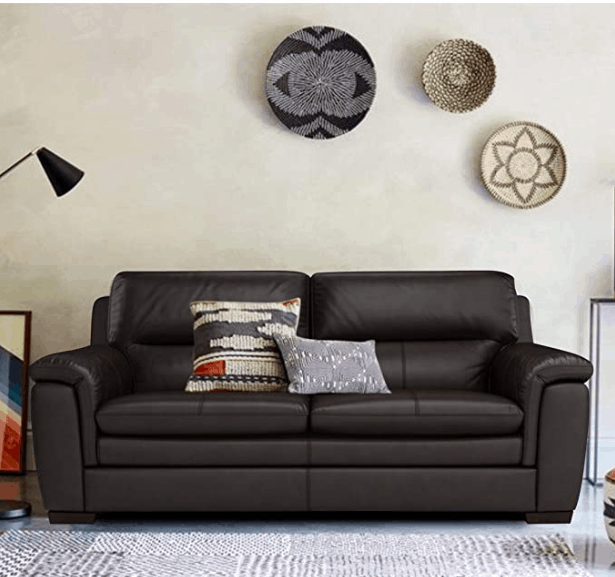 Sofa Architect Flutto 3 Seater Leatherette Sofa