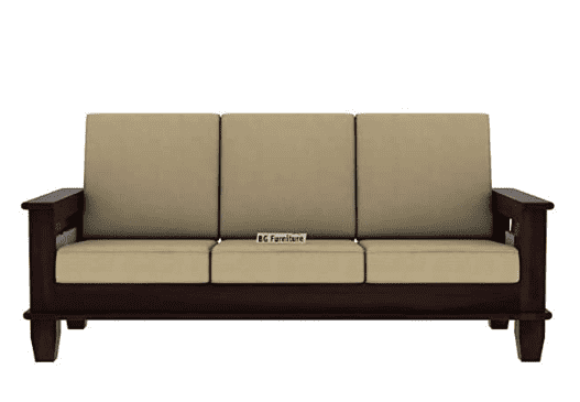 Tulsi Art Solid Wooden Sofa Set 3 Seater